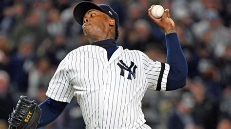 LOOK: Taking an Aroldis Chapman fastball to the ribs does