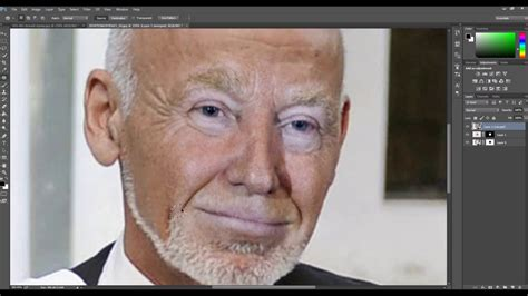 Photoshop cc - How to swap face - Auto Blend Layers - YouTube